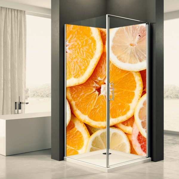 Duschrückwand Motiv 0023 Orange