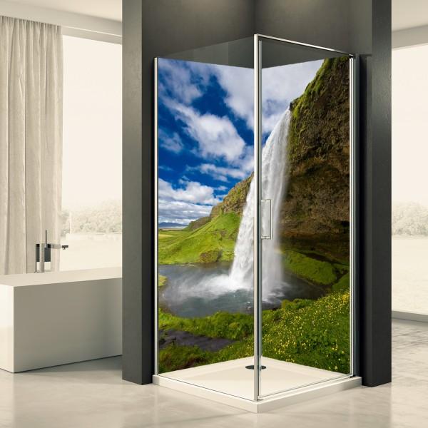 Duschrückwand Motiv 0042 Wasserfall Seljalandsfoss